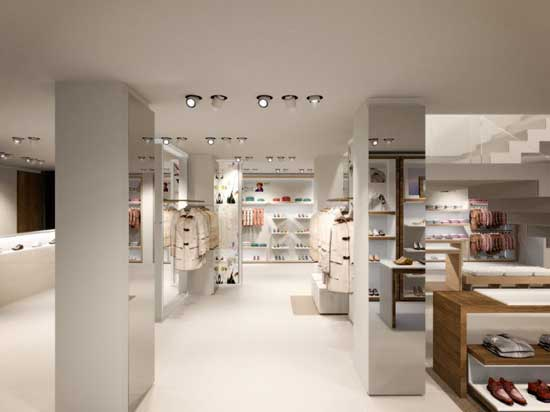 Geox inaugura su espectacular flagship store en barcelona - Mobiliario zapateria infantil ...