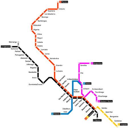 5 razones por las que el metro de bilbao es el mejor del for Oficinas metro bilbao