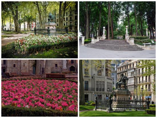 6 rincones para leer al aire libre en bilbao for Jardines de albia
