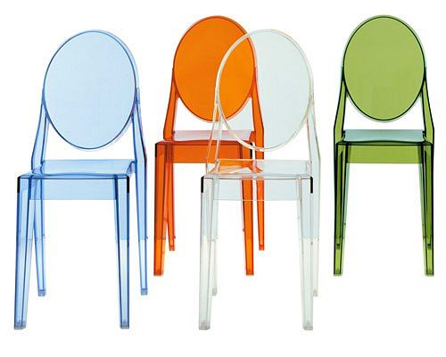 Sillas louis y victoria ghost de philippe starck para for Sillas metacrilato