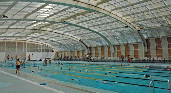 polideportivo moscard piscinas cubiertas y bonito dise o