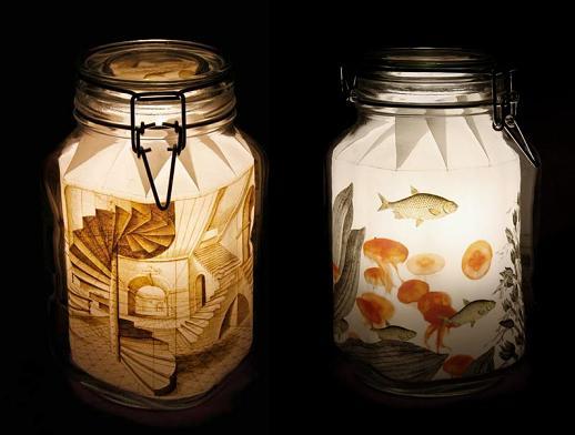 El lucernario las l mparas m s originales de madrid - Comprar tarros de cristal pequenos ...