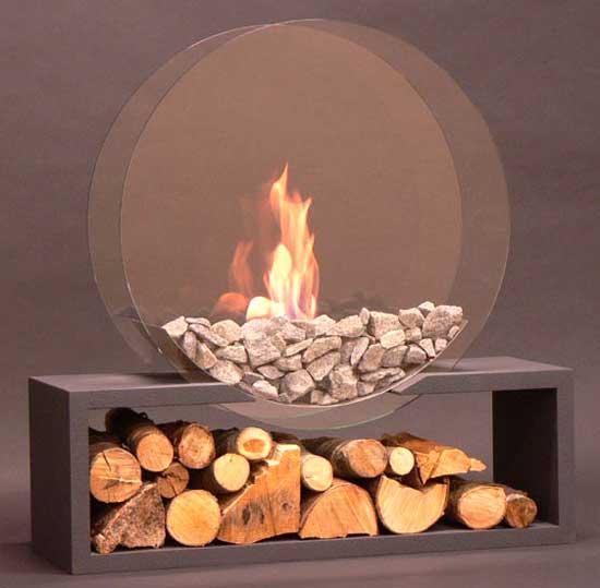 Alfra chimeneas con fuego pero sin humo - Fuego para chimeneas decorativas ...