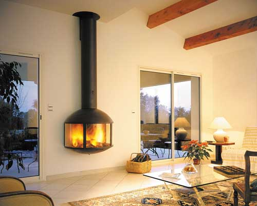 Focus chimeneas en suspensi n for Decoracion hogares de lena