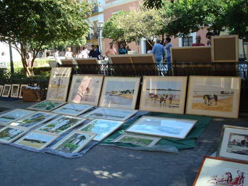 Mercadillo de arte de la plaza del museo de bbaa de - Mercadillos sevilla domingo ...