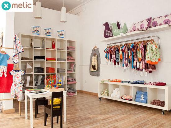 Melic una simp tica tienda infantil en barcelona for Decoracion de negocios de ropa