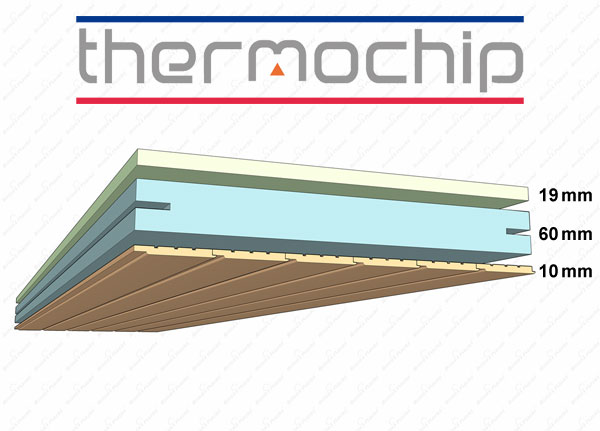 Thermochip aislante decorativo para la casa - Casa panel sandwich ...