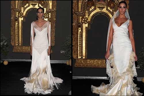 vicky martín berrocal presenta su colección de trajes de novia